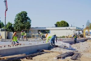 Construction continues at Irvington High School