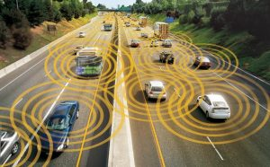 The Vehicle-to-Vehicle network will allow drivers to be aware of their surroundings and decrease road accidents.  (Photo: Department of Transportation)