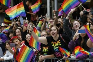 A crowd rejoices during the Heritage Pride March in New York, one of many gay pride parades of 2015 (Photo: www.csmonitor.com).