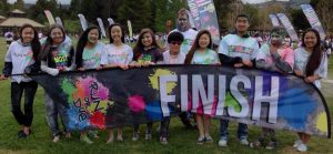 Irvington Interact members pose following a colorful day of volunteering.  Photo: Jane Tran