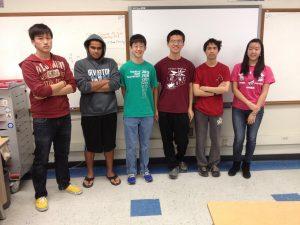 Seniors Owen Wang, Aravind Sundaresan, David Wang, Michael Zhang, Evan Chen, and sophomore Cathay Wang competed at BMT.