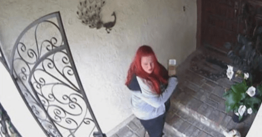 A screenshot from the surveillance footage of the woman.