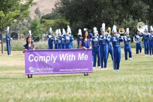 Marching Band Films a Commercial With PG&E