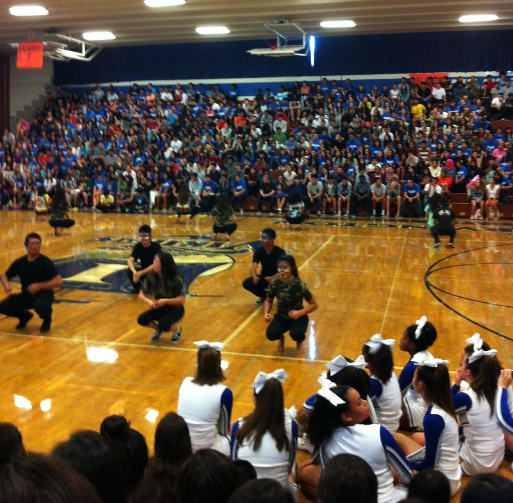 The first spirit rally of the school year. PC: Channing Whitaker