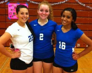 Senior captains Mikayla Deibert (#22), Madi Fremont (#2), Gita Venkatakrishnan (#16) PC: Channing Whitaker