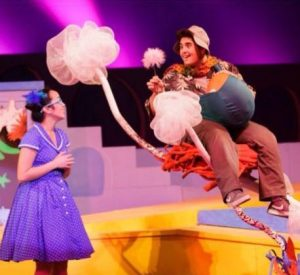 """Ally Abonador (Left) and Nicholas J. Saud (Right) playing their roles in """"Seussical: The Musical."""" PC: Ally Abonador"""