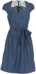 An example of a denim prom dress that a girl could wear to prom. PC: www.polyvore.com