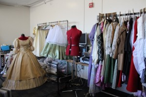 A look at Cinderella's dress and other characters' costumes.