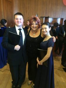 Joey Carini (left) and Liberty Forster (right) pose with their choral director Lori Marie Rios, Associate Professor of Music at College of the Canyons (Photo: Joey Carini)