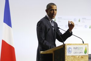 Over 150 world leaders gathered at the UN Climate Change Conference this year, among them being President Obama (Photo: Business Insider).