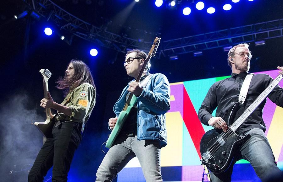 Weezer performs onstage (Photo: Nicole White).