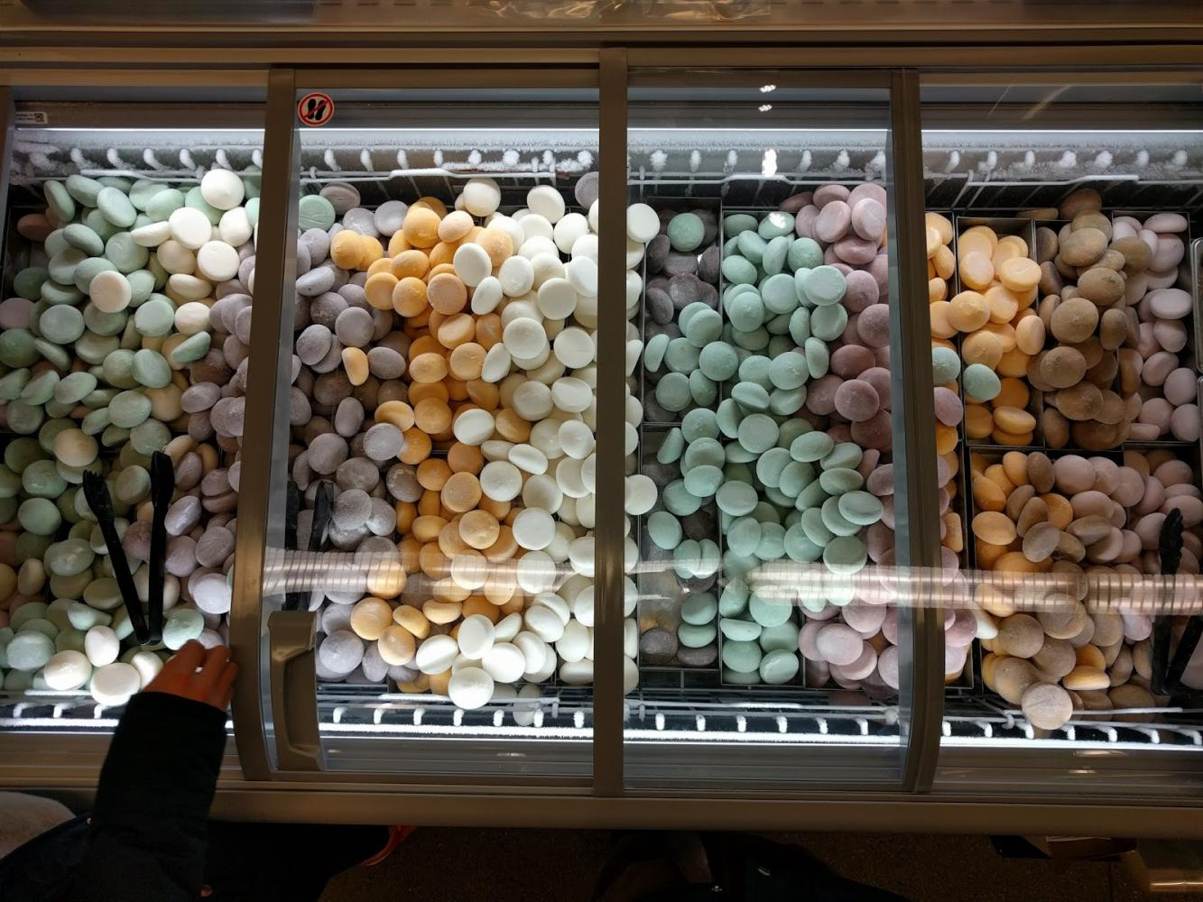 There are 12 different flavors for the ice cream mochi