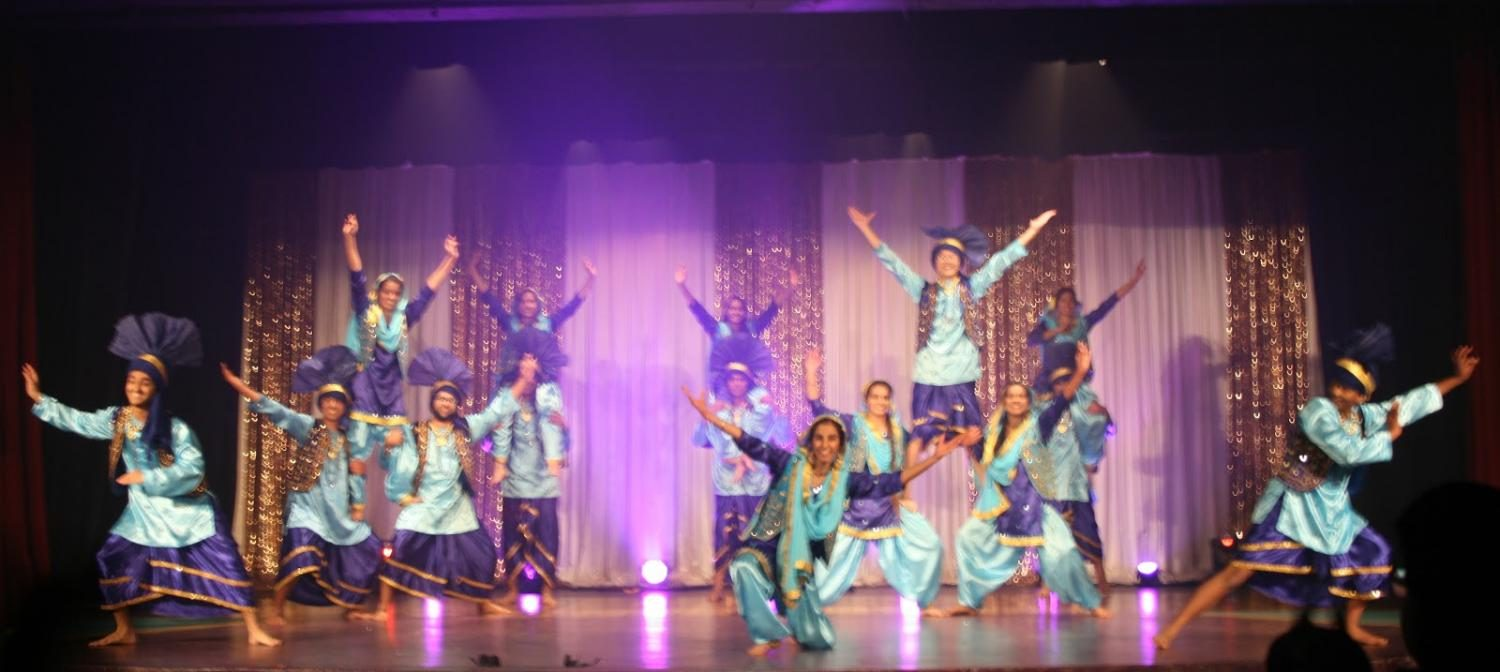 Irvington's Bhangra crew, which was led by seniors Kanak Garg and Nikita Gupta, performed a stunning closing performance for the first act of the night.