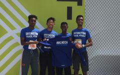 For the first time in Irvington's history, members of Irvington's relay team compete at the Arcadia Invitational.