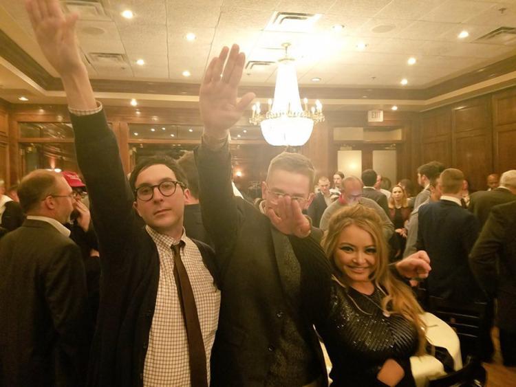 White+Nationalists+heil+Trump