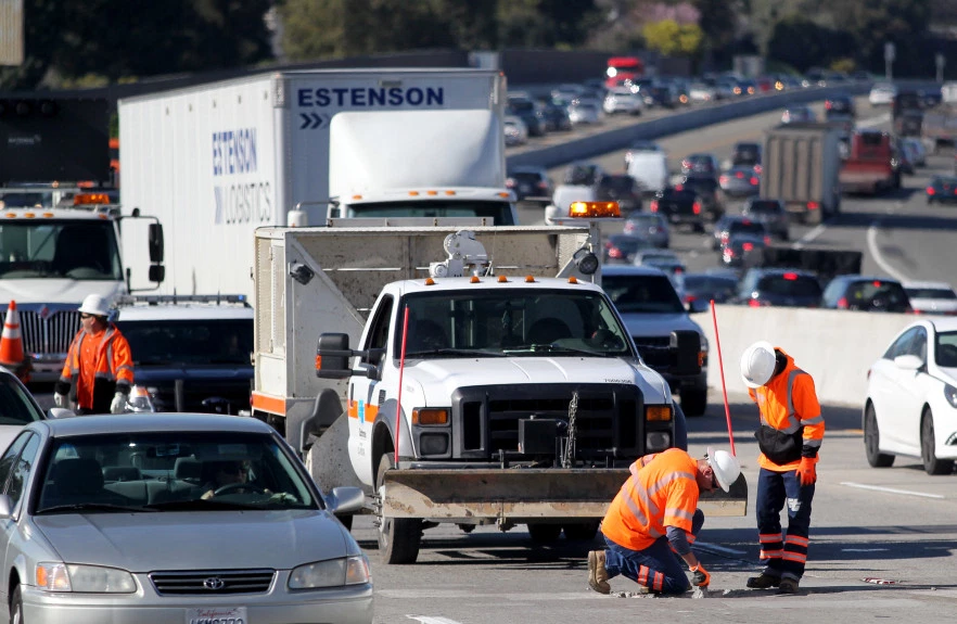 Caltrans%2C+the+California+Department+of+Transportation%2C+inspected+and+repaired+the+massive+pothole+in+the+middle+of+the+highway.