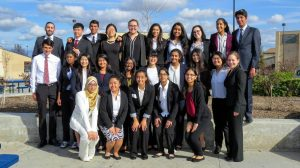 Irvington's WTP poses at their final competition in Golden Valley High School.