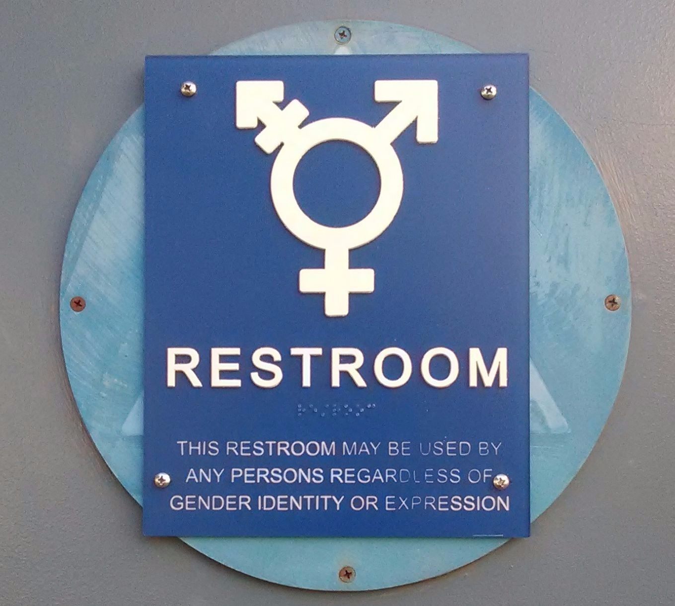 Irvington has installed a gender-neutral bathroom in the 200s wing.