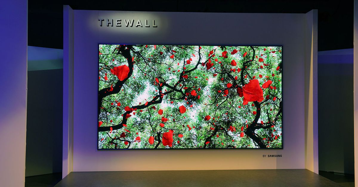 "Samsung's ""The Wall"" TV is a whopping 146 inches in size."