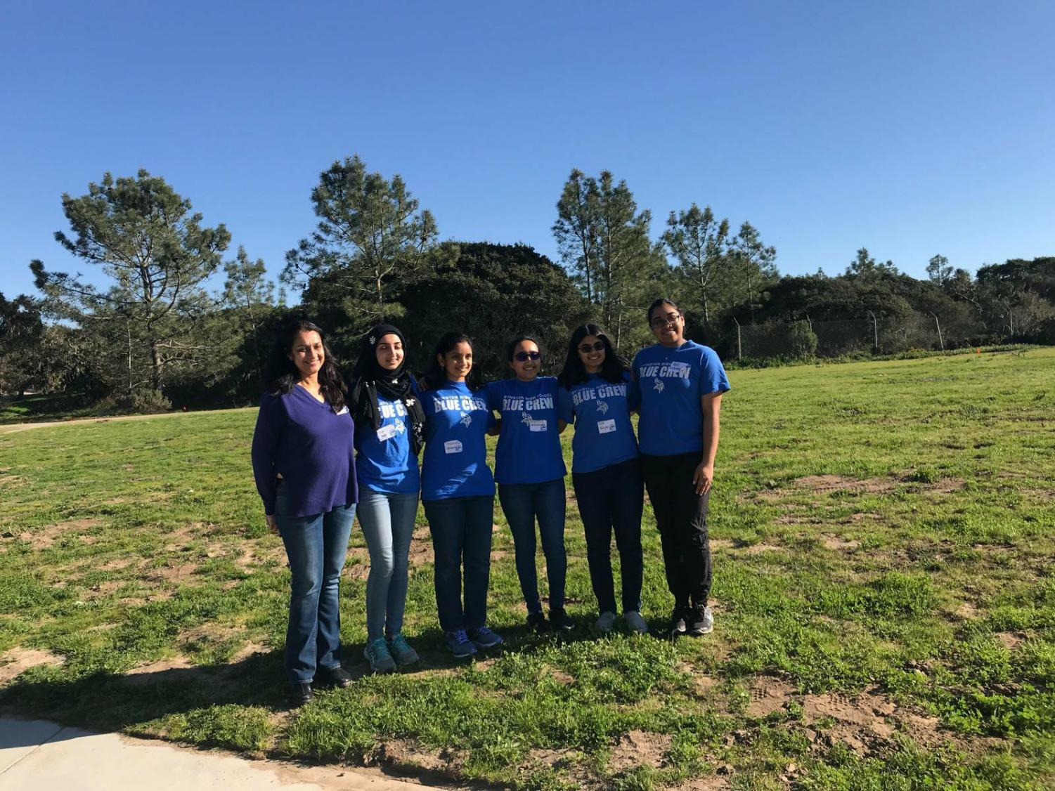 The team of five girls and parental chaperones woke up at around five o'clock in the morning to get to Monterey for the competition on at nine (Lakshmanan Venugopalan).