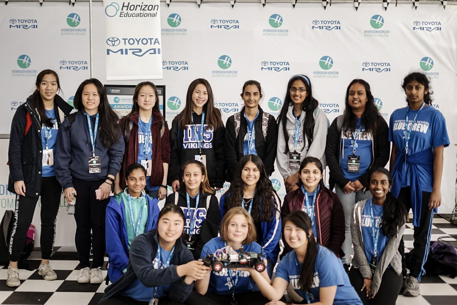 The Irvington girls in STEM team qualified for states in their first hydrogen car competition.