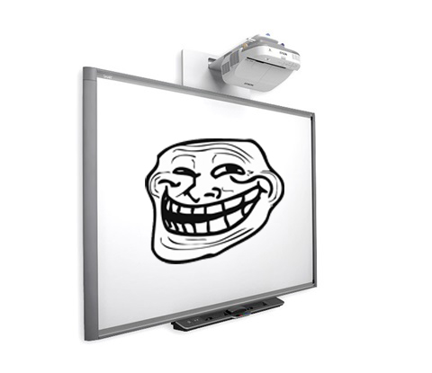 The smartboard is a dangerous thing.