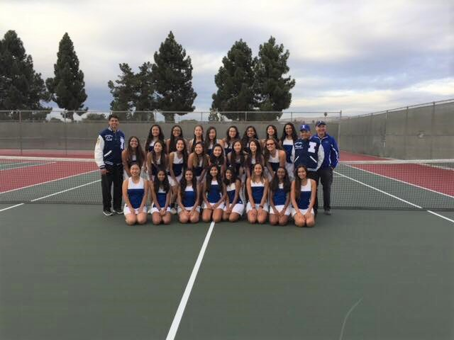 Irvington Girl's Tennis won 2nd place at this year's MVAL's