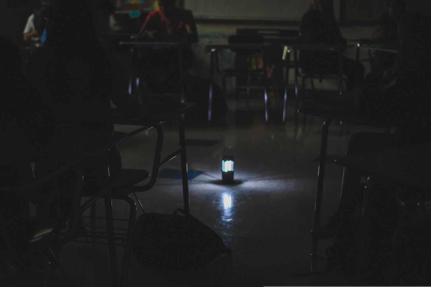 Irvington students and teachers used unique, creative approaches to continue school throughout the prolonged blackout.