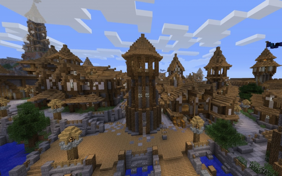 The possibilities are endless in Minecraft as you can create small structures or even a giant medieval town.