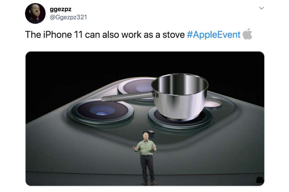 Tom Cook introduces the new iPhone 11 and its stove function at the latest Apple Event.