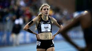 Mary Cain, one of the first female athletes to come forward with allegations against Nike, pictured at the 2016 Drake Relay while training with Nike.