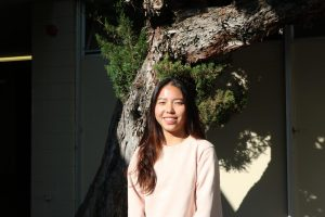 Christine Lo (10) moved to the US from Taiwan freshman year, and has attended Irvington since.