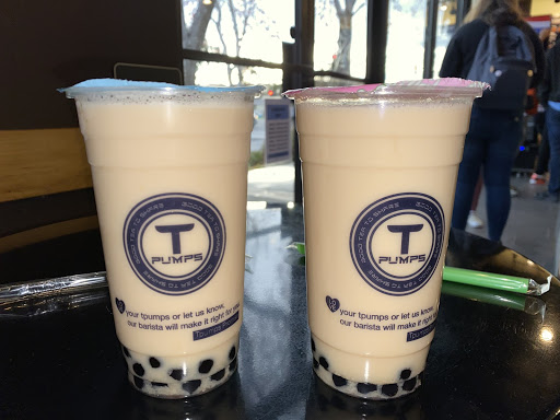 Both drinks are the peach passion rose black milk tea and were great without ice, even on a cold winter day.