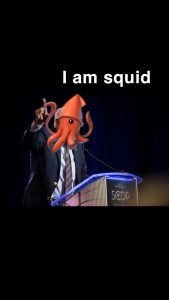 Squidrick Johnson, with his extreme dedication, presents at the South Carolina Democratic State Convention despite the lack of water.