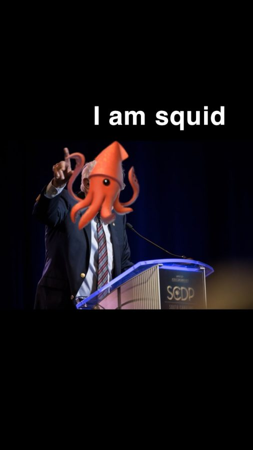Squidrick+Johnson%2C+with+his+extreme+dedication%2C+presents+at+the+South+Carolina+Democratic+State+Convention+despite+the+lack+of+water.