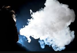 Stew Pid (12) practicing his vape clouds before the competition. He favors vaping individually in his own time, but puts his preferences aside to become a top contributor to the Vikings' success.