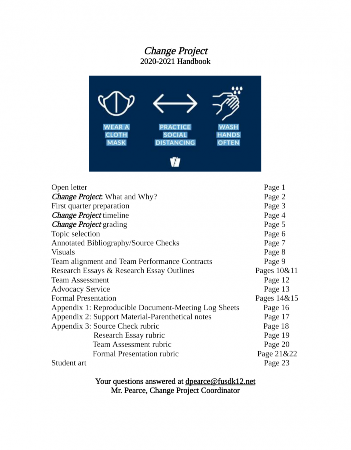 The+front+page+of+this+year%27s+Change+Project+Handbook+has+been+redesigned%2C+now+including+a+banner+with+COVID-19+health+precautions.