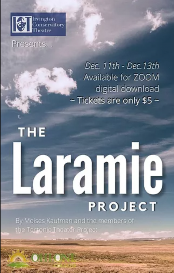 The flier for the drama production this year, The Laramie Project.