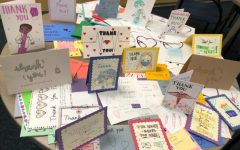 Irvington LEO Club made 260 cards, and they are currently the winning school. Cards for the other schools are in the process of being counted.