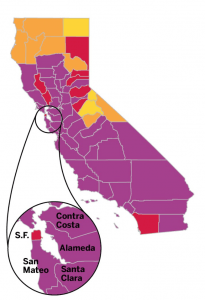 Alameda County has returned to Purple Tier after just a month in Orange Tier under California