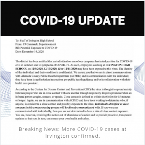 Breaking News: COVID ON CAMPUS (Updated 12/14, 5pm)