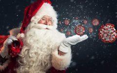 An incriminating photo of Santa Claus spreading the coronavirus.