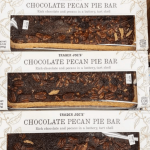 Trader Joes' chocolate pecan pie bar, one of the best things on the list and one of the best things I have ever eaten.
