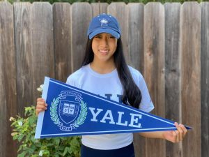 Claire Qu (12) committed to attend Yale University as an athlete for the universitys gymnastics team.