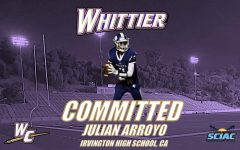 Julian Arroyo, who combatted depression and school stress while dedicating himself to Irvington's football team, committed to Whittier College, accepting the offer to be their starting quarterback.