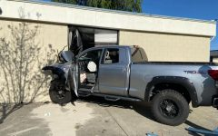 The truck crashed into the classroom with enough force that the air bags deployed.