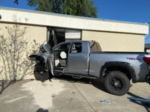 "The truck crashed into the classroom with enough force that the air bags deployed. ""It"