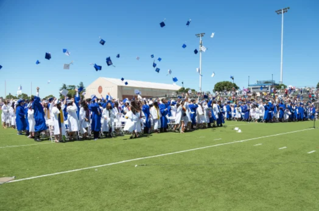 Students will be spaced 6ft apart from each other but will have a nearly traditional graduation experience.