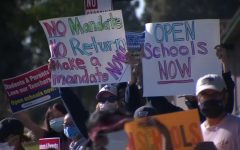 Fremont parents protested FUSDs decision to remain in distance learning for the rest of the 2020-21 school year.