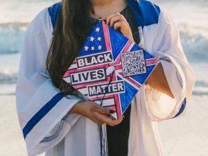 A decorated graduation cap from an Irvington Class of 2020 senior.